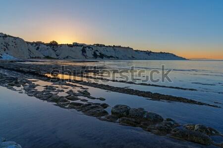 Amanecer sicilia Italia cielo naturaleza paisaje Foto stock © elxeneize