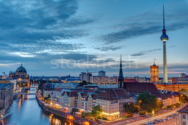 Downtown Berlin with the famous Television Tower Stock photo © elxeneize