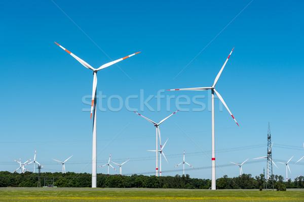 Wind generation plants seen Stock photo © elxeneize