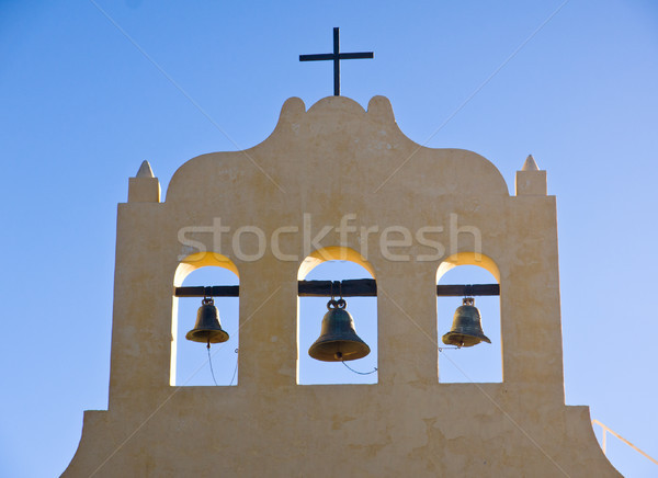 Three bells and a cross Stock photo © elxeneize