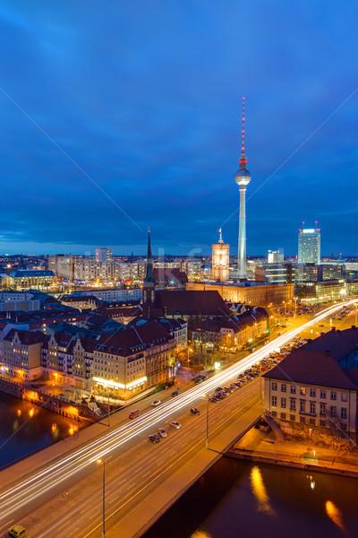 タウン ベルリン 1泊 有名な テレビ 塔 ストックフォト © elxeneize