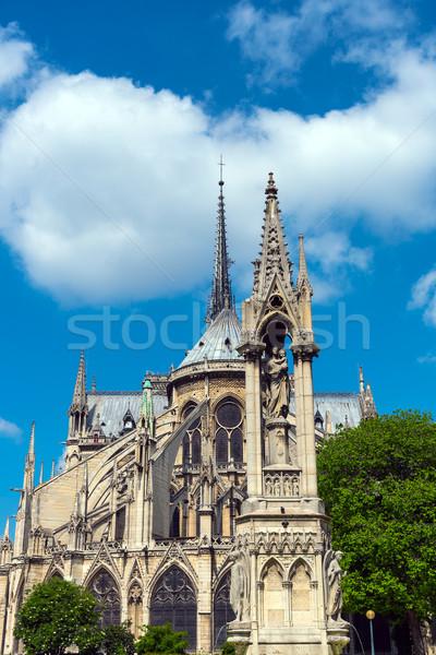 The backside of Notre Dame in Paris Stock photo © elxeneize