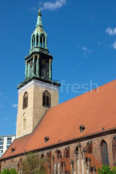 ベルリン 古い 教会 アレクサンダー広場 建物 旅行 ストックフォト © elxeneize
