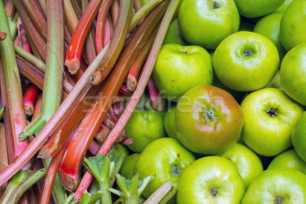 Rhubarb and apples Stock photo © elxeneize