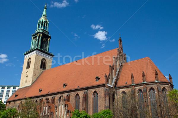 教会 ベルリン 古い アレクサンダー広場 建物 旅行 ストックフォト © elxeneize