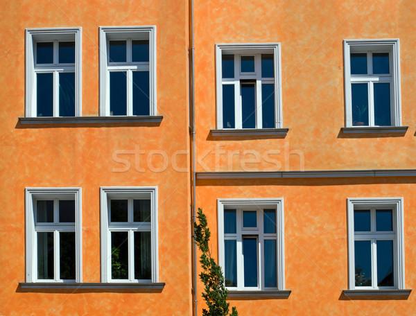 Orange facade Stock photo © elxeneize