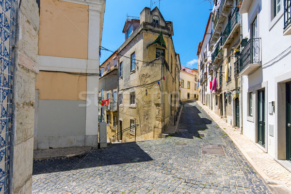 At the Alfama district in Lisbon Stock photo © elxeneize