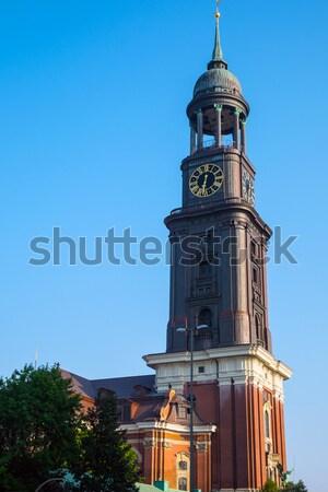 Iglesia hamburgo torre Alemania cielo viaje Foto stock © elxeneize