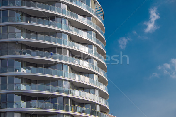 Detail of an apartment building Stock photo © elxeneize