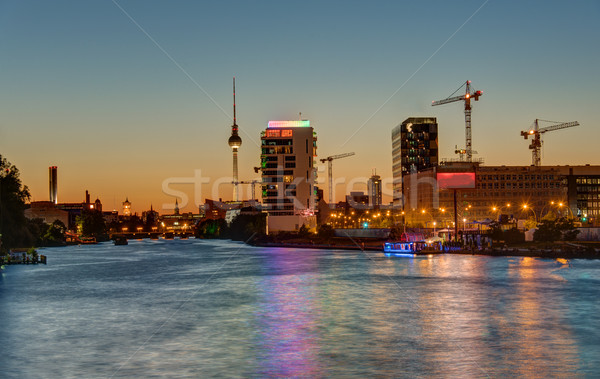 The River Spree in Berlin at sunset Stock photo © elxeneize