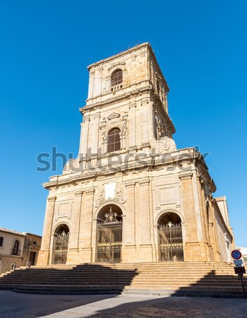 The cathedral of Enna in Sicily Stock photo © elxeneize