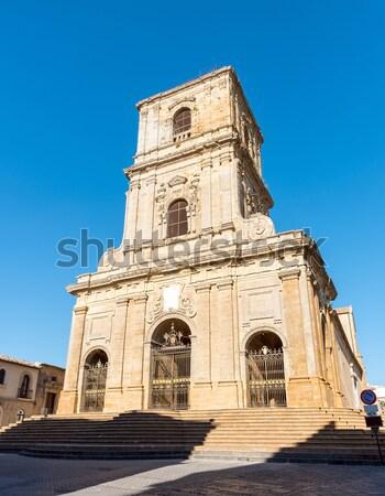 Katedry sycylia Włochy ruiny turystyki artystyczny Zdjęcia stock © elxeneize