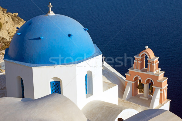 Beautiful church in Oia  Stock photo © elxeneize