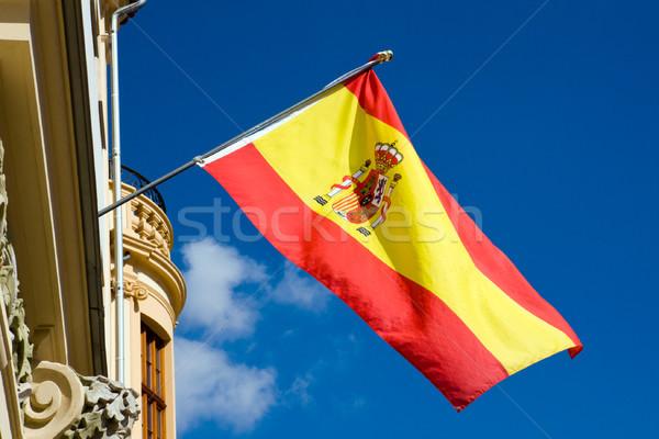 スペイン国旗 スペイン語 フラグ バルセロナ マドリード ストックフォト © elxeneize