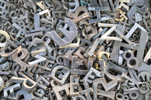 Stock fotó: Vasaló · levelek · számok · köteg · különböző · terv