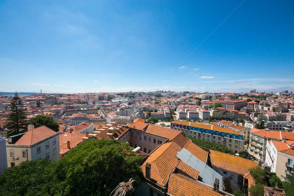 Amazing view of Lisbon Stock photo © elxeneize