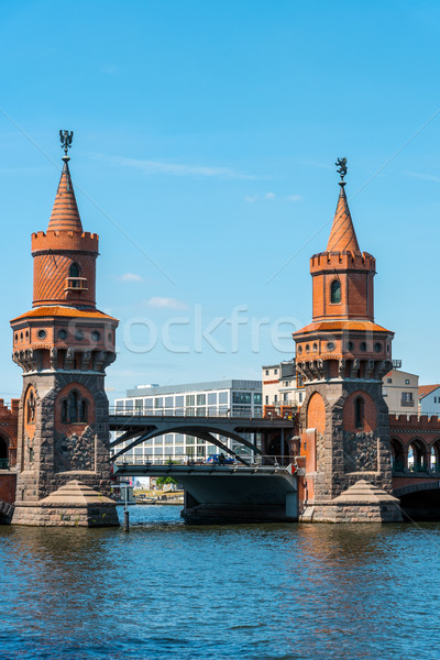 The towers of the Oberbaumbruecke in Berlin Stock photo © elxeneize
