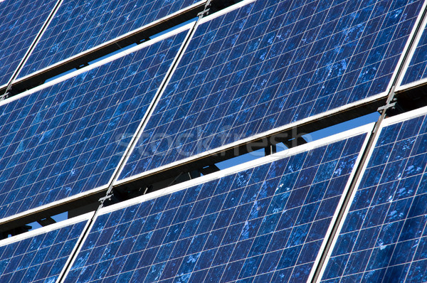 Detail of a solar panel Stock photo © elxeneize