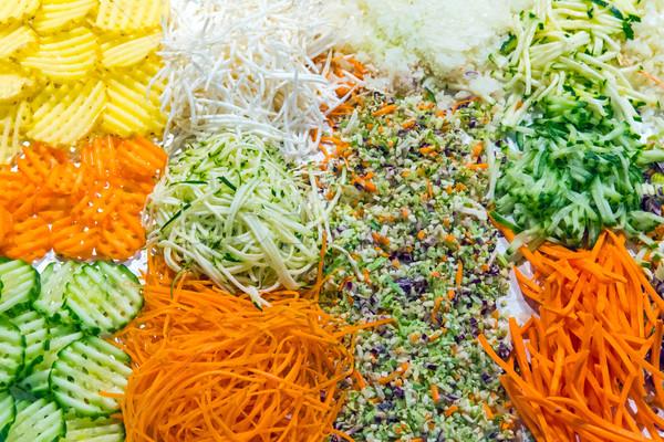 красочный Салат буфет ресторан продовольствие здоровья Сток-фото © elxeneize
