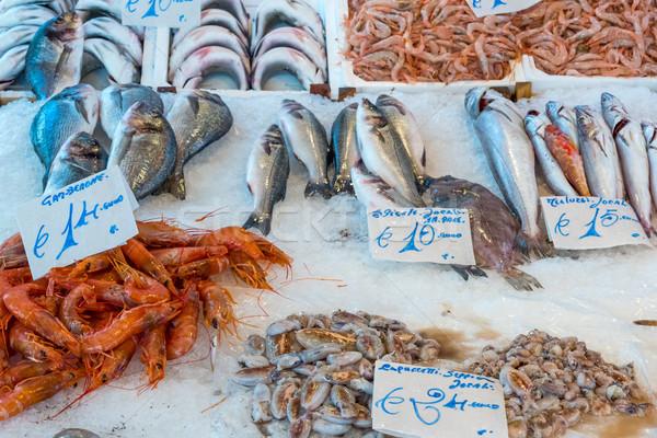 Pesce frutti di mare mercato sfondo pesca animale Foto d'archivio © elxeneize