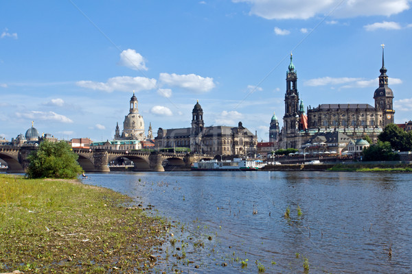Dresden from the shore of the Elbe Stock photo © elxeneize