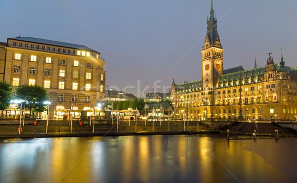 Hamburgs beautiful townhall Stock photo © elxeneize