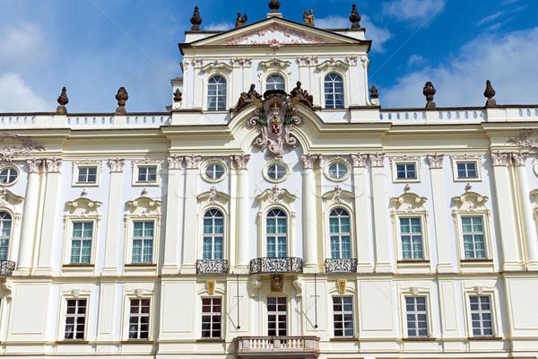 Beautiful palace in Prague Stock photo © elxeneize