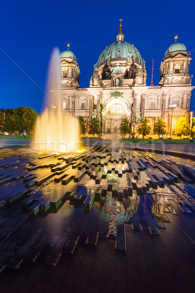 The Berliner Dom at night Stock photo © elxeneize