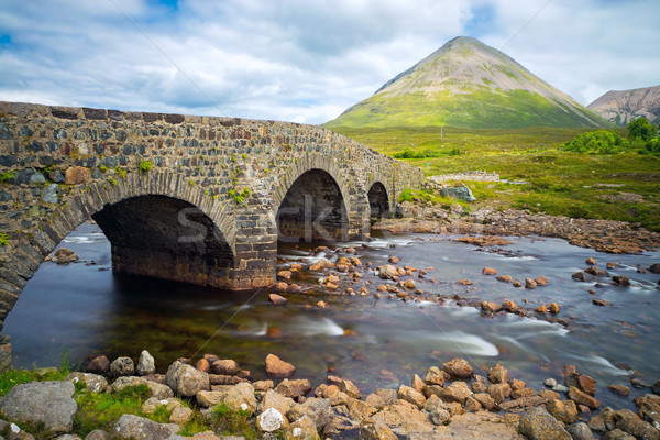 Bridge at Sligachan, Isle of Skye Stock photo © elxeneize