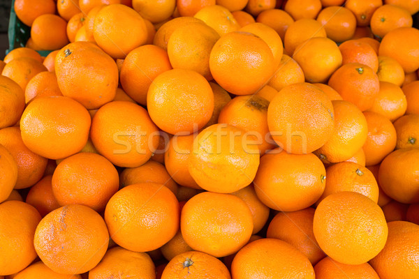 A pile of clementines Stock photo © elxeneize
