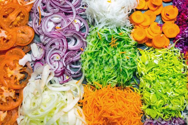 Various kinds of grated salad Stock photo © elxeneize