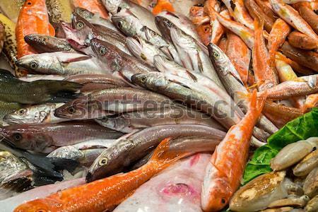 Tasty fish and seafood Stock photo © elxeneize