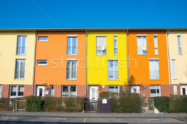 Colorful terraced housing in Berlin Stock photo © elxeneize