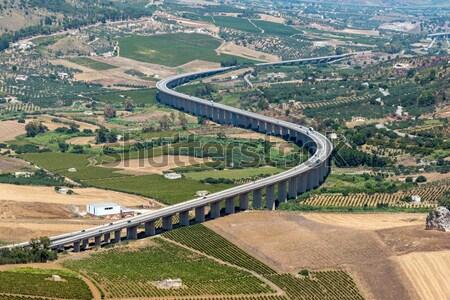 Curved sicilian highway Stock photo © elxeneize