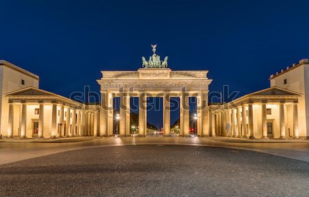 The Brandenburger Tor in Berlin at night Stock photo © elxeneize