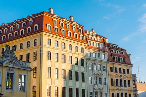 Restored buildings in Dresden Stock photo © elxeneize