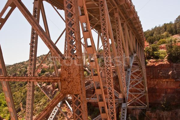 Orange Metal Bridge Stock photo © emattil