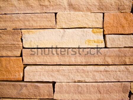 Arenito rocha parede fundo laranja pedra Foto stock © emattil