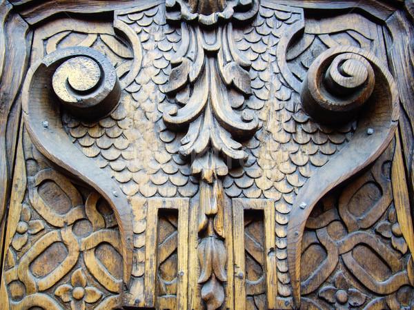 Starych drzwi kolonialny Meksyk tekstury Zdjęcia stock © emattil