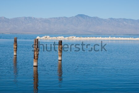Blue Salton Sea Stock photo © emattil