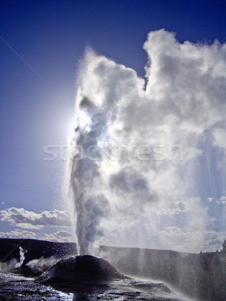 Steam vents as Lion Geyser blows Stock photo © emattil
