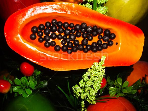 Vruchten display outdoor Mexicaanse markt natuur Stockfoto © emattil