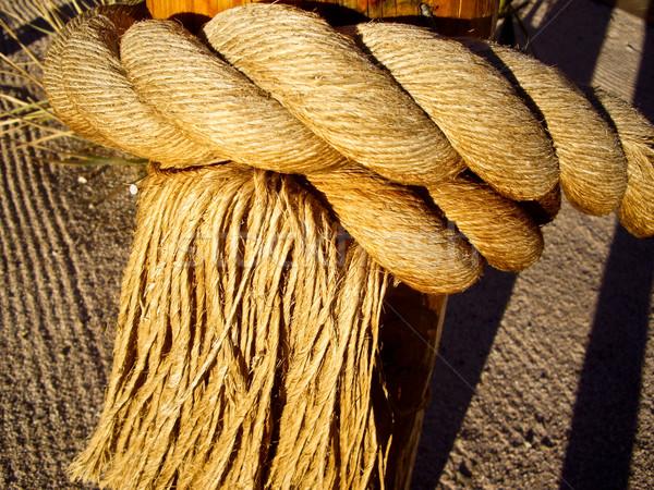 Plaited rope with Fringe Stock photo © emattil