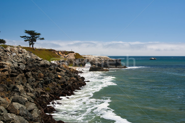 Rock Tunnel on California Coast Stock photo © emattil