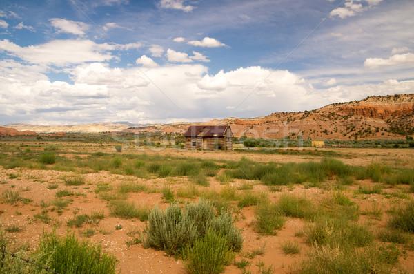 кабины сено сельский Юта пустыне США Сток-фото © emattil