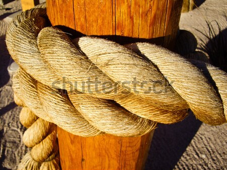 Rope on a Post Stock photo © emattil