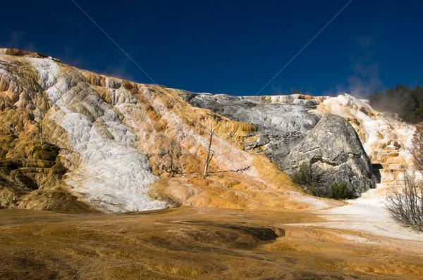 Geologie hot kleurrijk water oranje witte Stockfoto © emattil