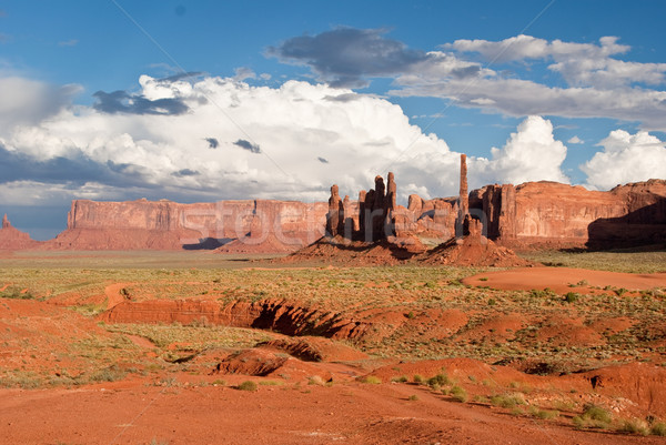 Storm clouds gather over Monument Valley Stock photo © emattil
