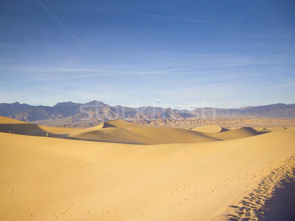 Pici emberek óriási halál völgy sivatag Stock fotó © emattil