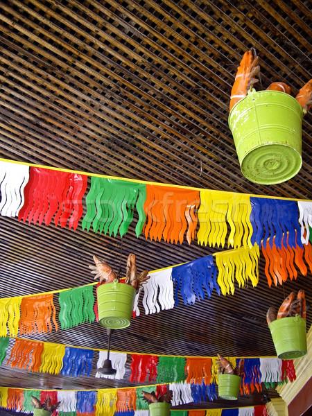 Aragosta secchio mexican decorazione outdoor cafe Foto d'archivio © emattil
